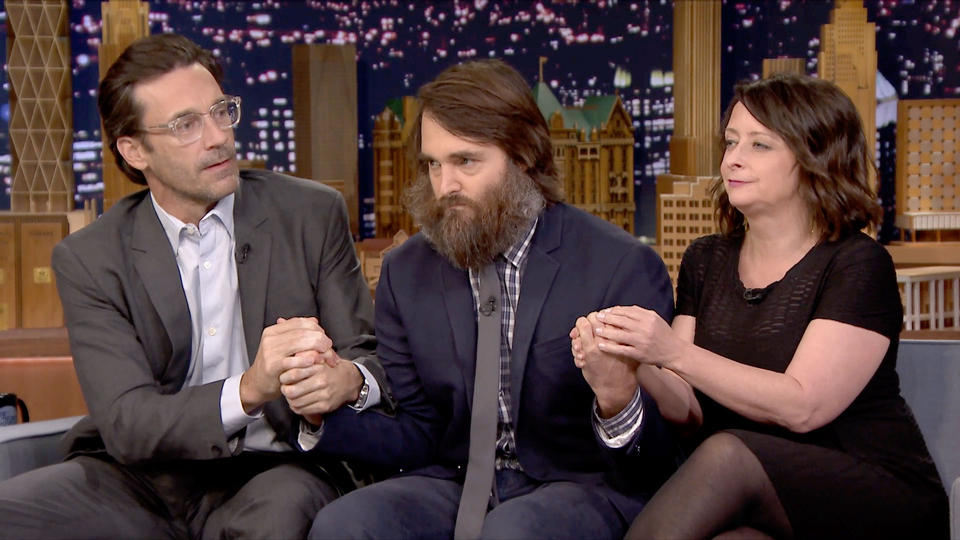 Jimmy Fallon tested Will Forte's beard for bacteria, and OMG