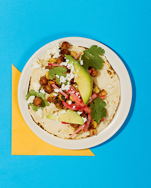 Throw a fiesta with these easy, delish chickpea tacos