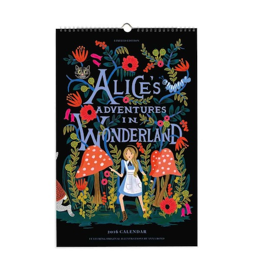 Fall into a rabbit-hole with this beautiful Alice in Wonderland-themed calendar