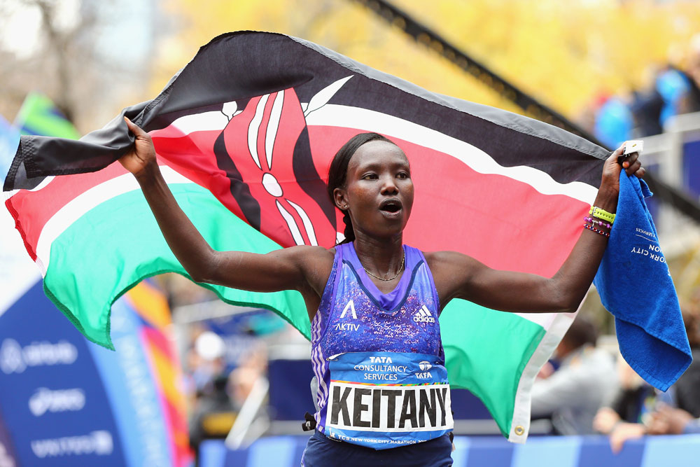Saluting Mary Keitany, who won the NYC marathon for the women