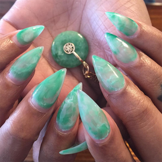 Nails of the Day: Jade claws