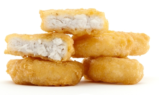 The amount of ingredients in a McDonald's chicken nugget = shocking