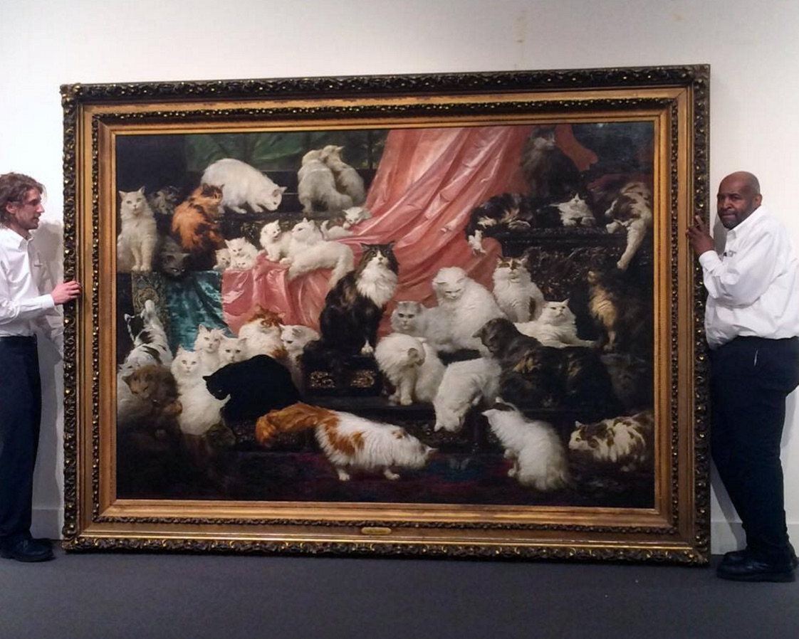 FYI: Here's the world's largest cat painting and it sold for a LOT of money