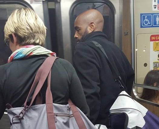 This couple's train ride is going viral and swelling our hearts