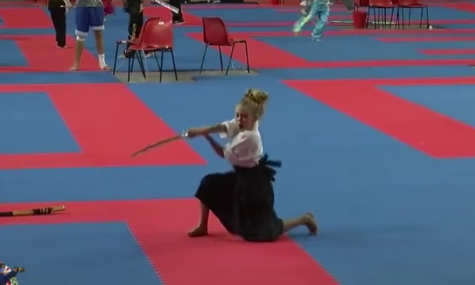 This 9-year-old girl wielding a sword is all kinds of badass