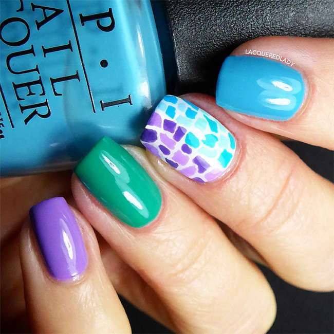 Nails of the Day: Mix-and-match mosaic