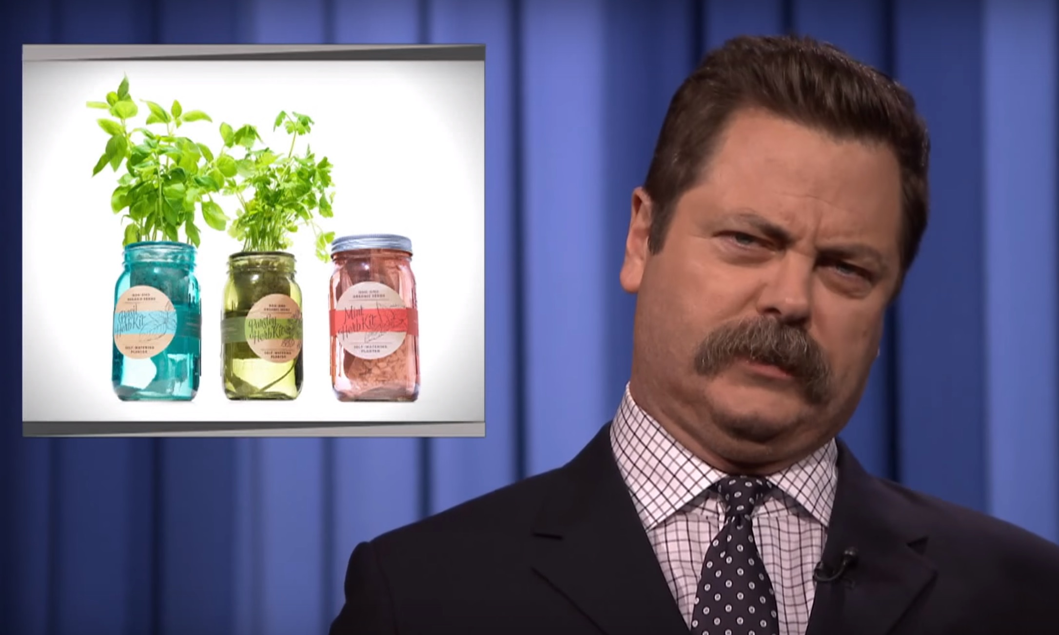 Nick Offerman reading Oprah's list of Favorite Things is priceless