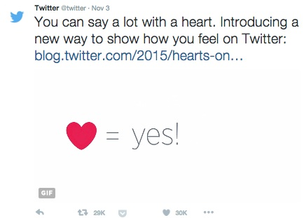 Twitter reveals why they went from stars to hearts. There's a real reason.