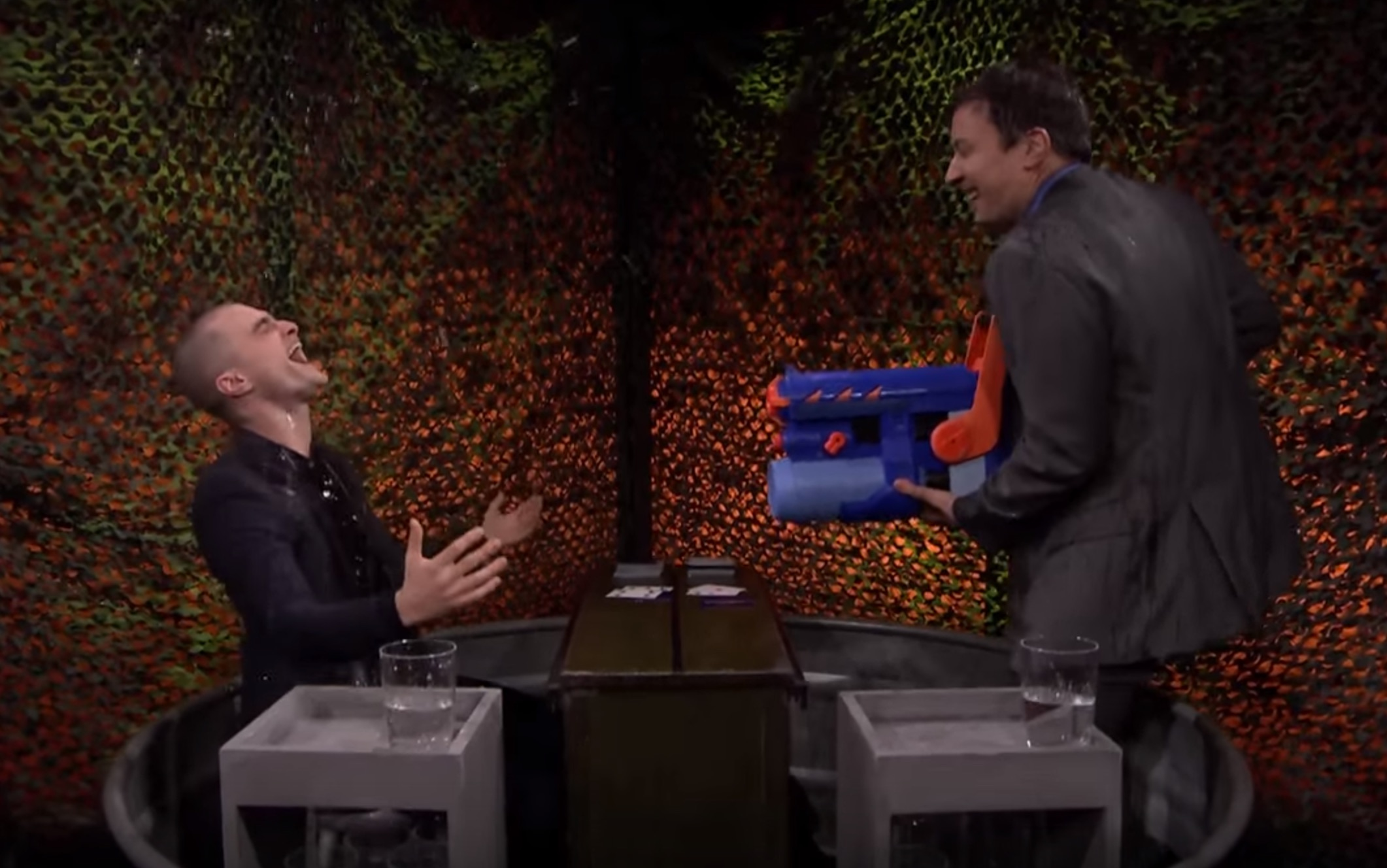 Daniel Radcliffe and Jimmy Fallon had a super intense water fight