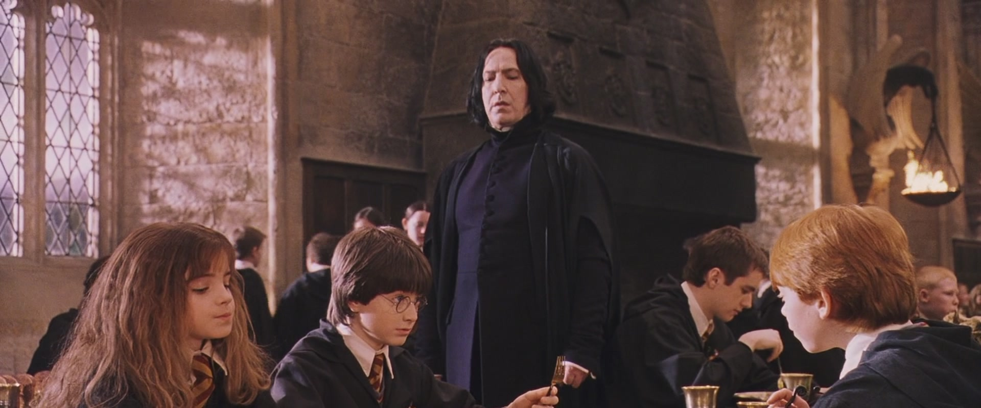 The first thing that Snape says to Harry Potter has much more meaning than we thought