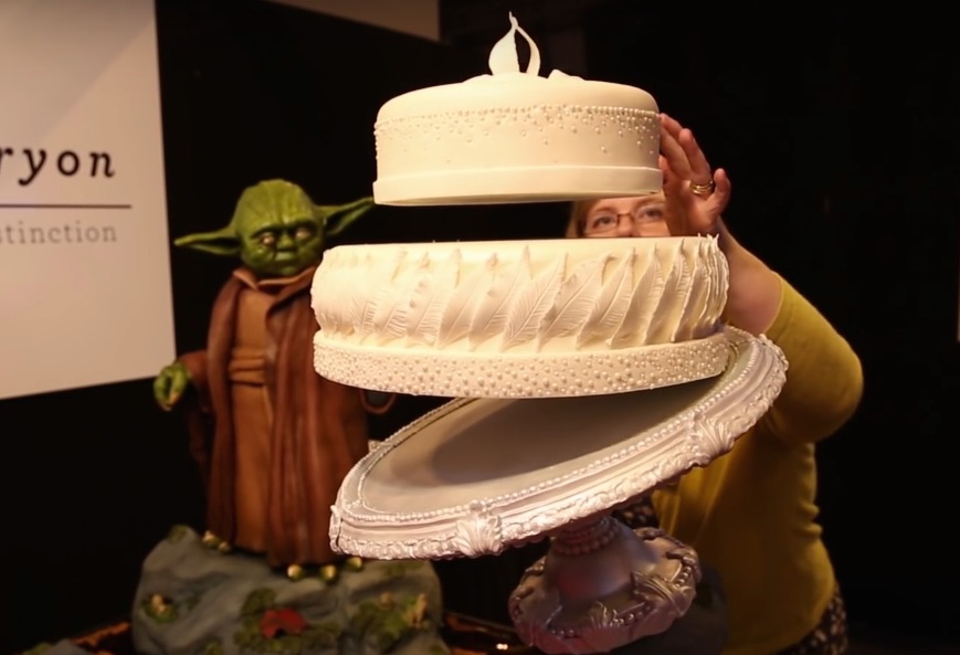 The Force is strong within this magically levitating Yoda cake