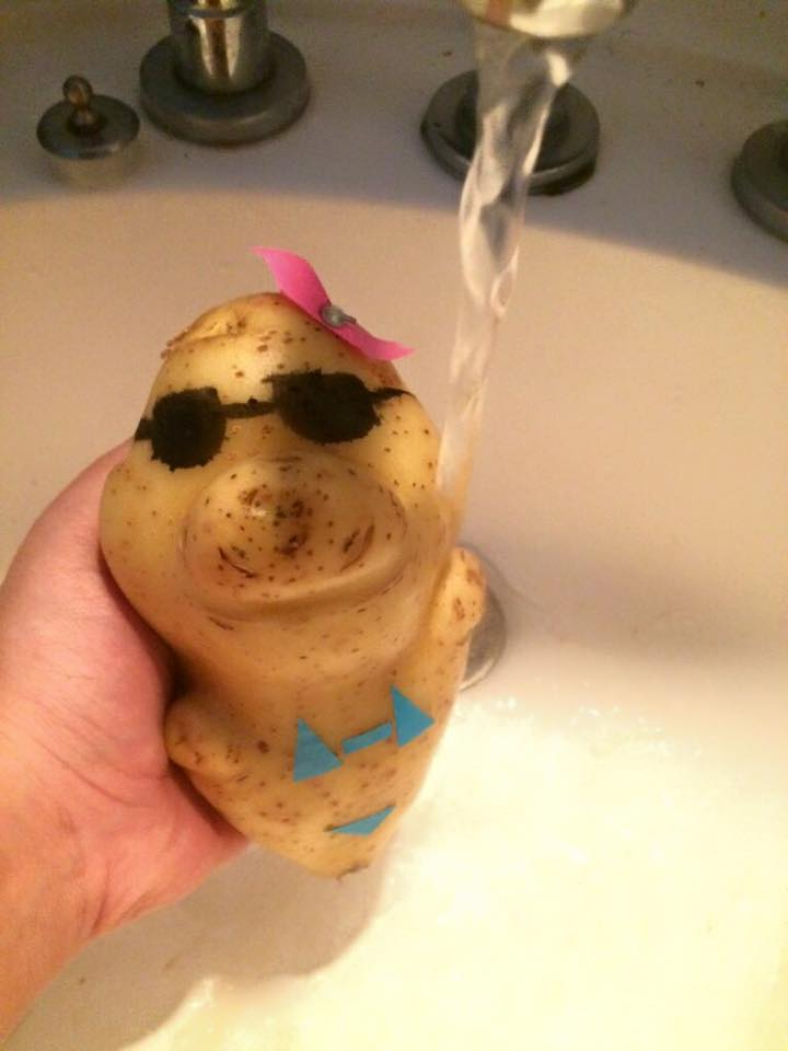 FYI: Here's what a potato dressed as a little girl looks like
