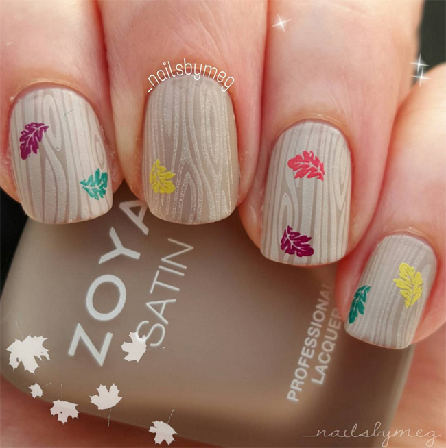 Nails of the Day: Autumn in the woods