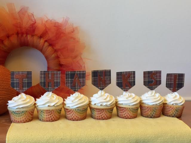 Give thanks in sweet style with these DIY cupcake decorations