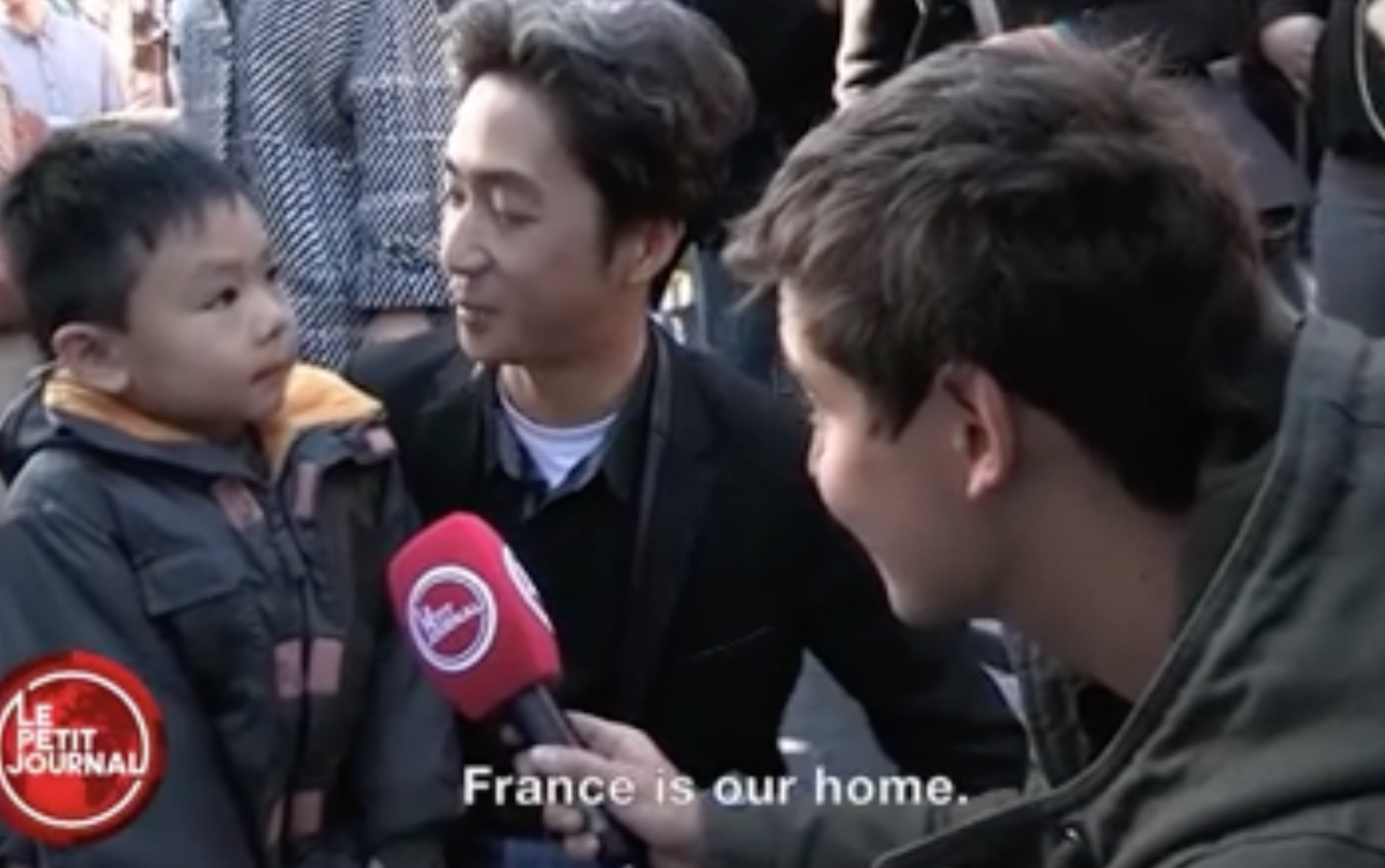 A father comforts his son about the Paris attacks and soothes us in the process