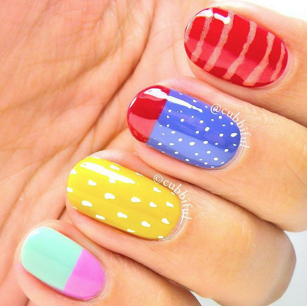 Nails of the Day: Childlike whimsy