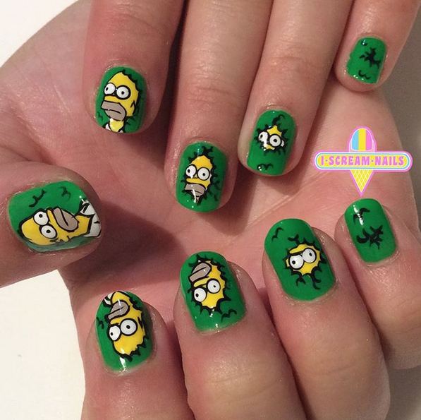 Nails of the Day: Homer backing into the bushes