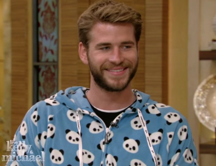 Here's Liam Hemsworth wearing a panda onesie —because you deserve it