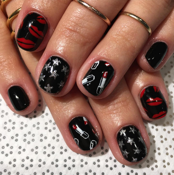Nails of the Day: Yves Saint Laurent inspired