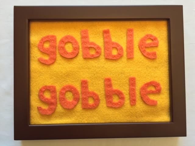 Here's your DIY framed Thanksgiving motto