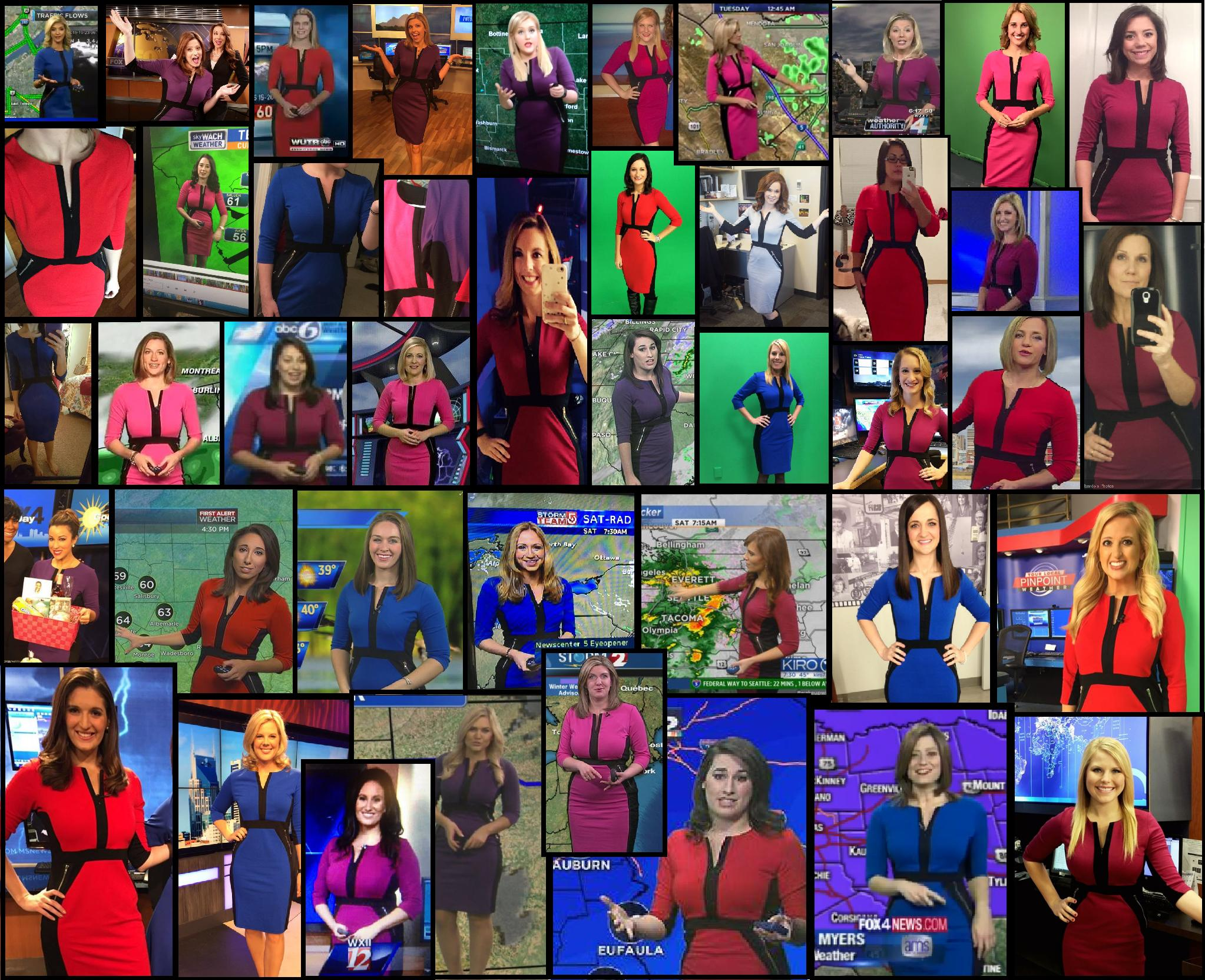 Here's why female meteorologists across the country all wear the exact same dress