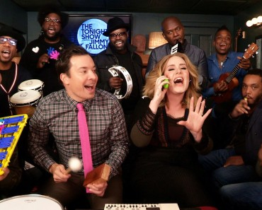 "Adele, Jimmy Fallon, and The Roots prove ""Hello"" is even better with classroom instruments"