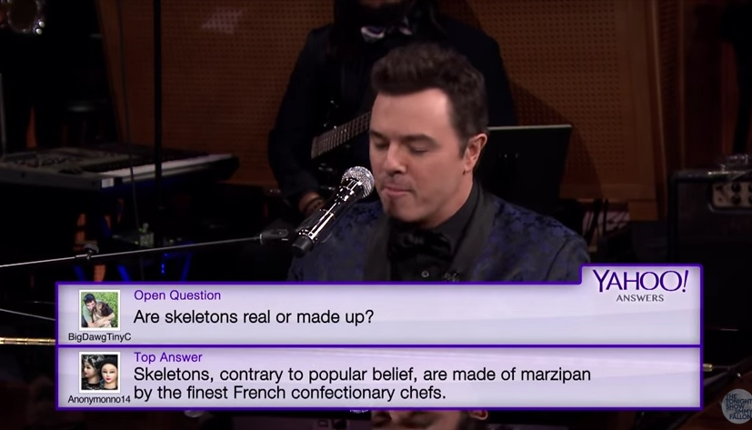 Seth MacFarlane and Jimmy Fallon turn Yahoo Answers into sweet, sweet melodies