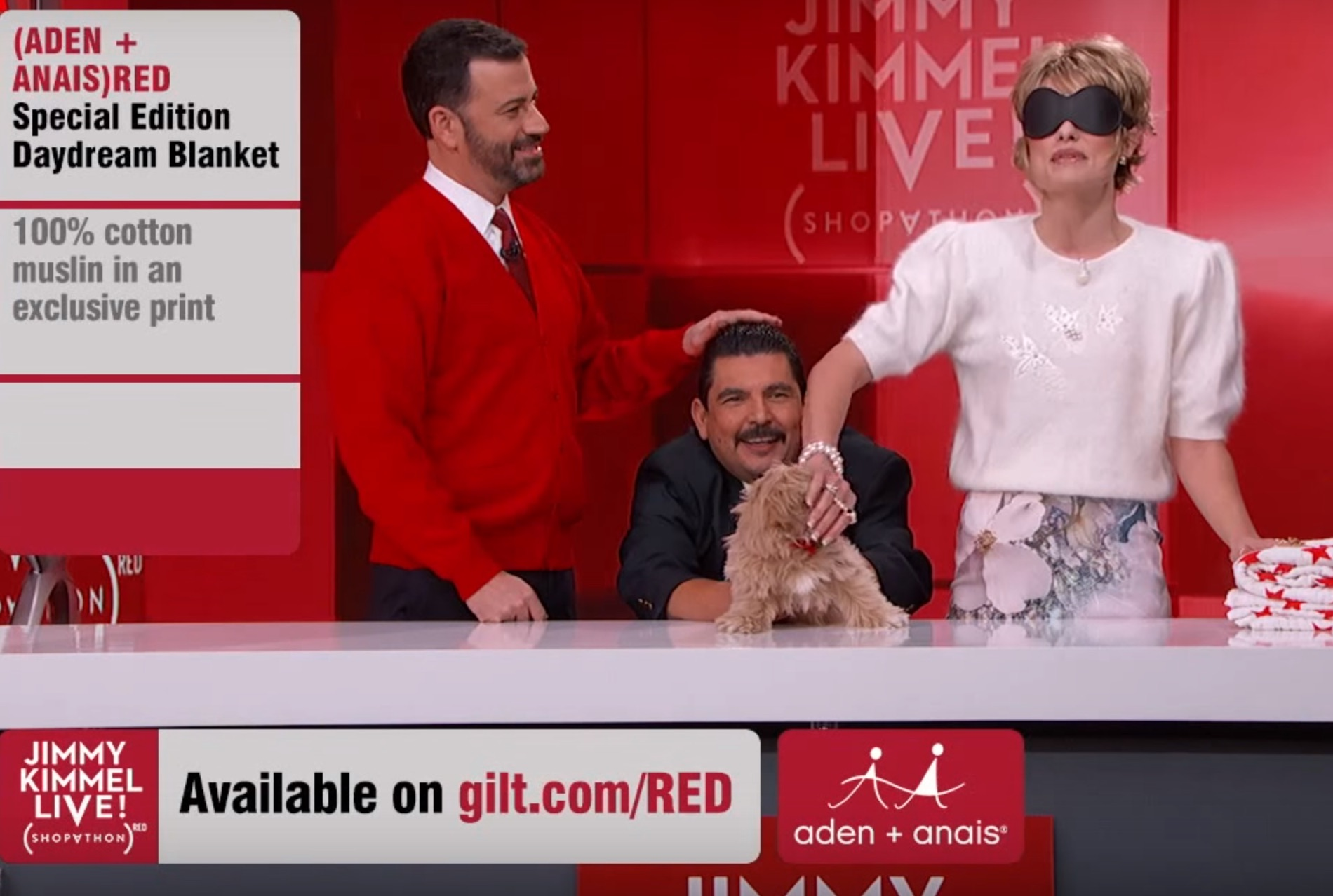 Jimmy Kimmel kicked off the first ever SHOPATHON(RED) last night for a really good cause