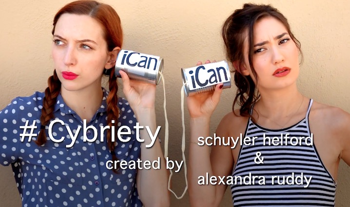We're obsessed with the #Cybriety web series
