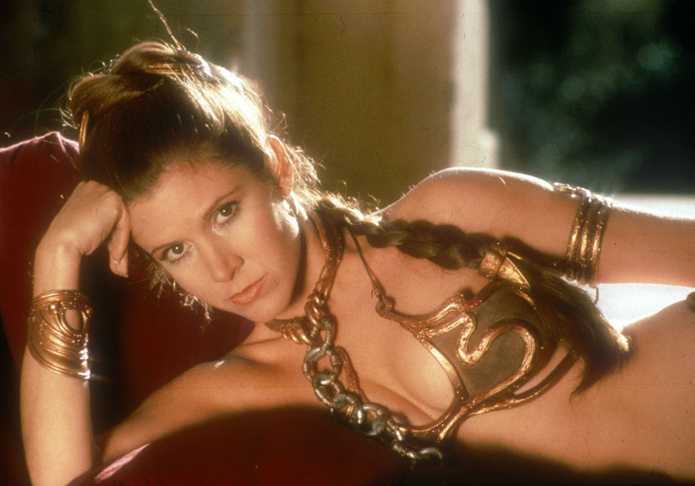 Carrie Fisher just told us all exactly what she thinks of the Princess Leia gold bikini controversy