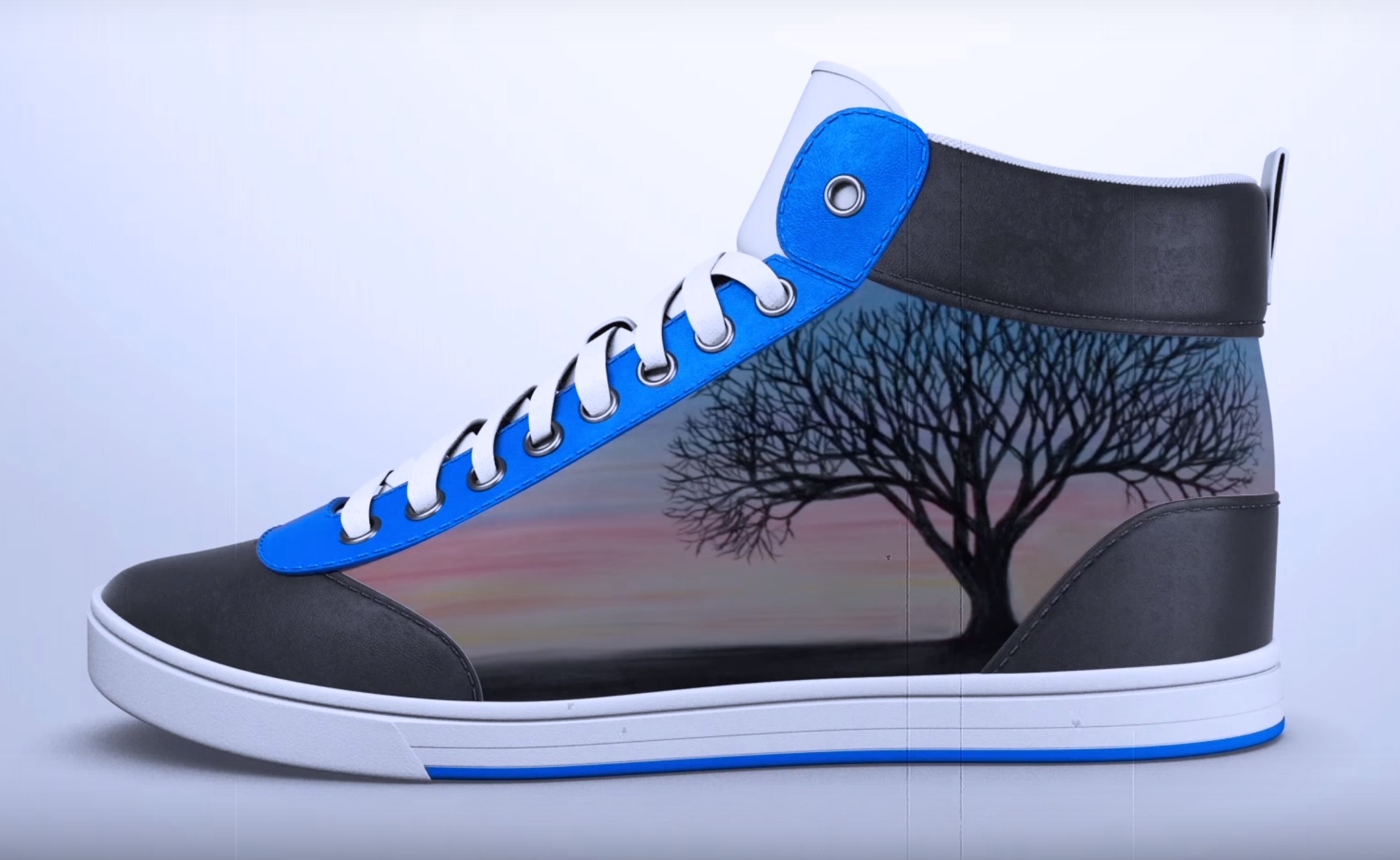 These shoes change color like magic with just one tap of your phone