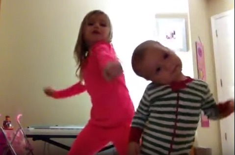 A kindergartner and a toddler just had the dance-off to end all dance-offs