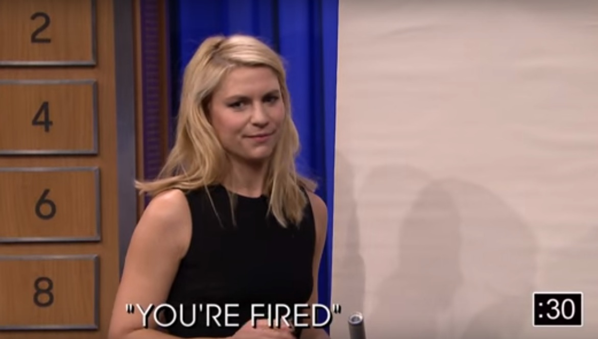 Claire Danes played an intense game of Pictionary with Jimmy Fallon last night