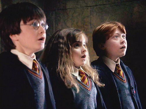First came Daniel Radcliffe's 'Harry Potter' audition, now here's the trio's first screen test