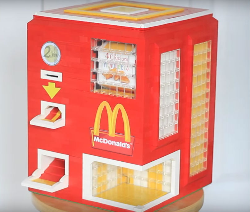 Ladies and gents: the LEGO Chicken McNugget dispenser