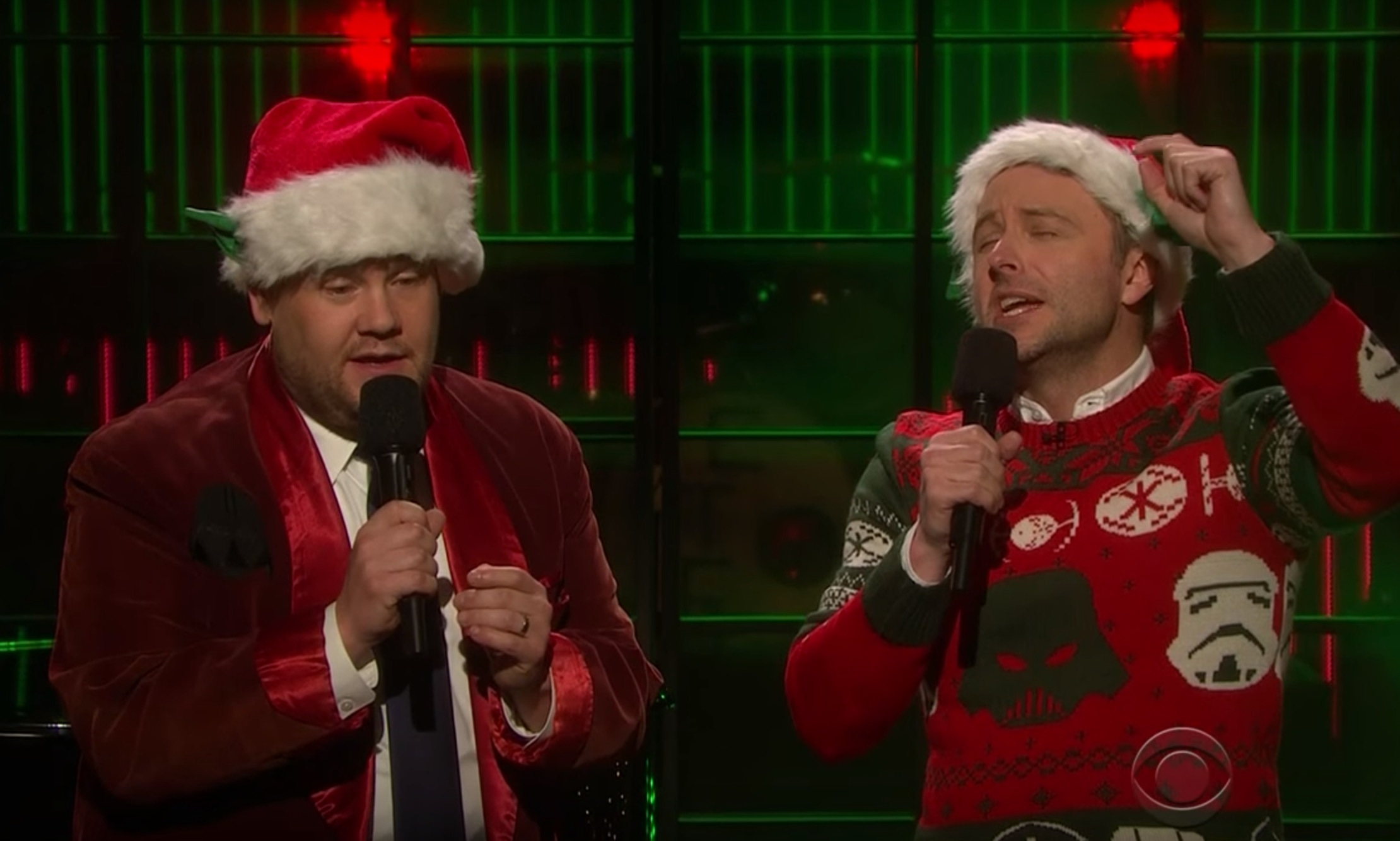 James Corden and Chris Hardwick performed the 'Star Wars' Christmas song we never knew we needed