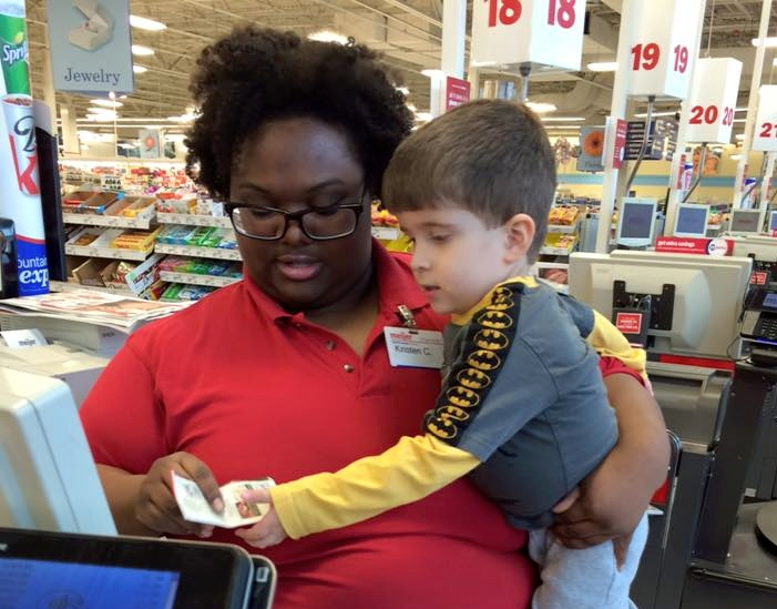This cashier's simple act of kindness is going viral