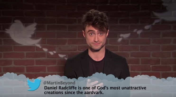 Behold: Daniel Radcliffe, Kirsten Dunst (and a billion other stars) read Mean Tweets!
