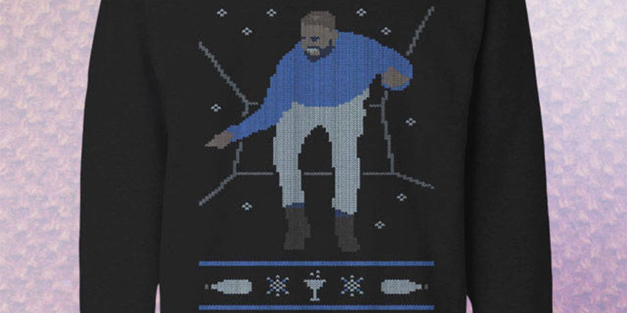 This Drake sweater is what ugly Christmas sweater dreams are made of