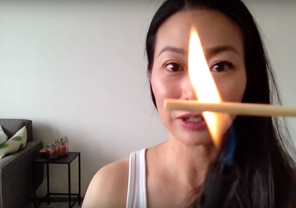 This new way to curl your eyelashes involves fire
