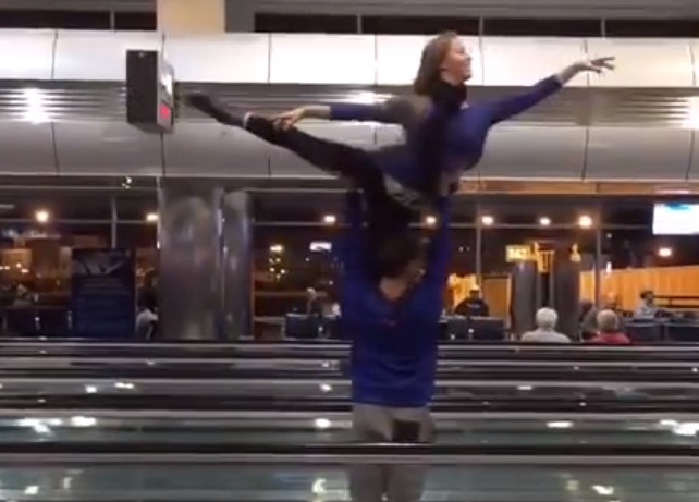 Here's what a group of dancers did when their flight was canceled