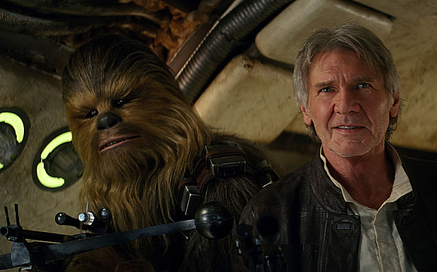 Um, Harrison Ford was paid 50 times more than his co-stars in the new 'Star Wars'