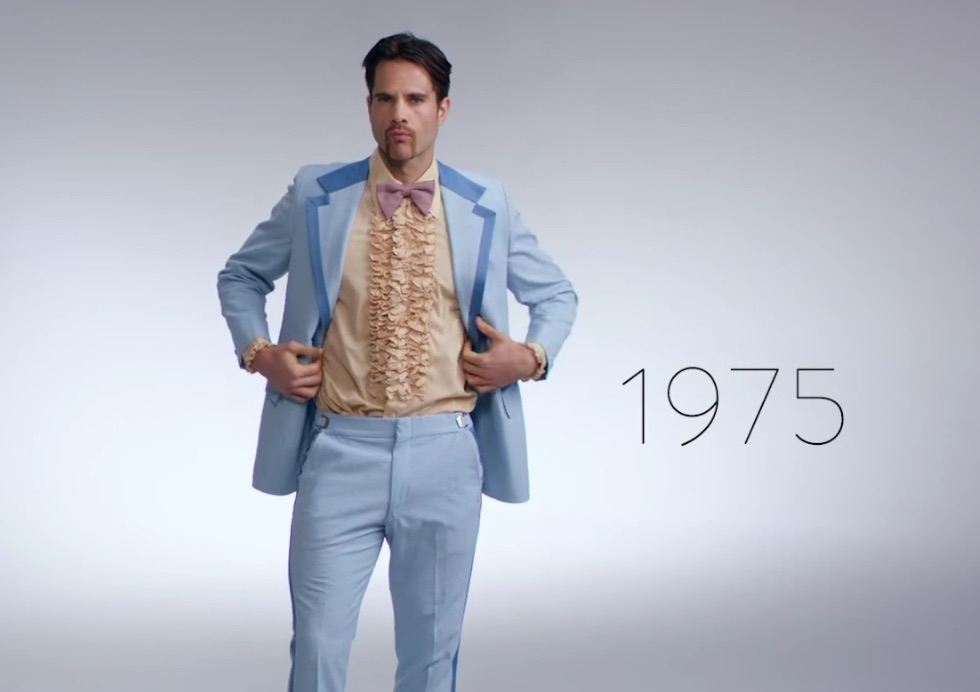 Watch 100 years of dudes' New Year's style in three minutes