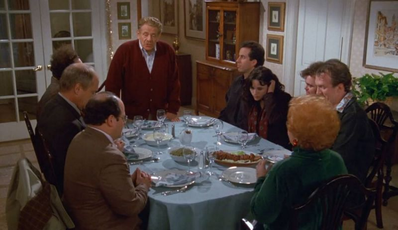 Apparently, Julia Louis-Dreyfus couldn't stop laughing while filming the Festivus episode