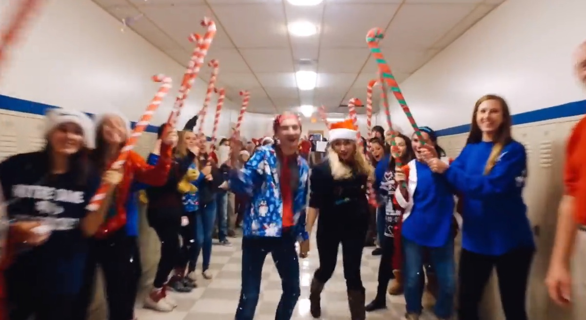 This high school's epic holiday lip dub video is going viral