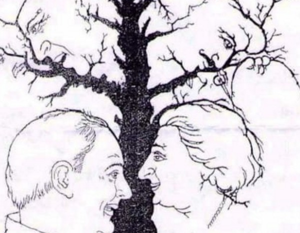 "This ""faces in the tree"" puzzle is baffling all of us"