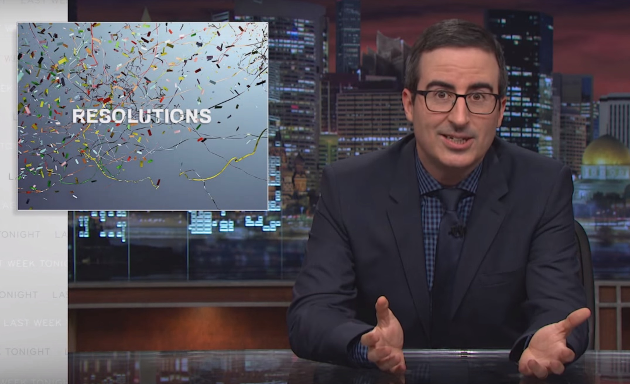 John Oliver helps you with those New Year's resolutions you've already broken