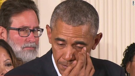 Why President Obama cried on national television today