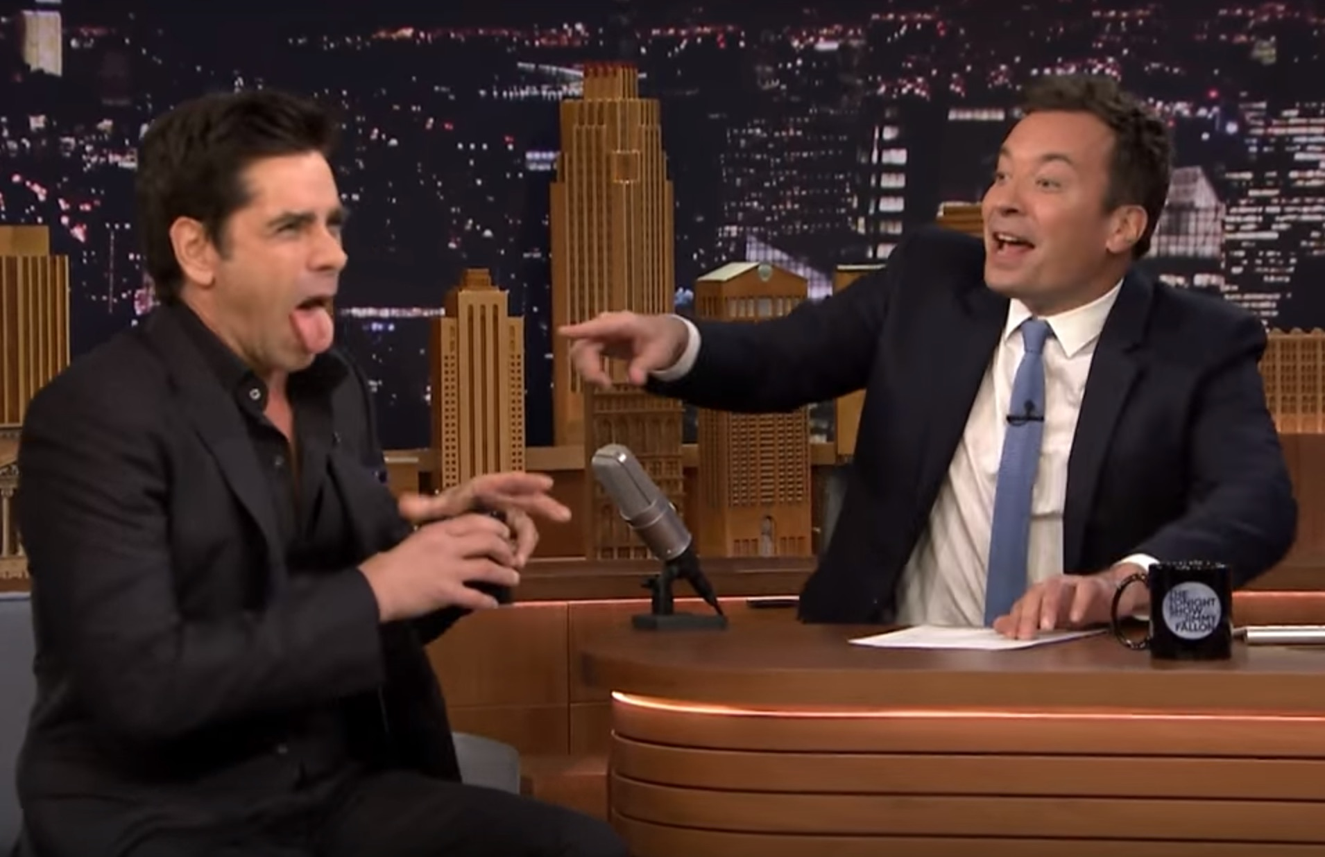 John Stamos and Jimmy Fallon just revealed the hilarious way they first met