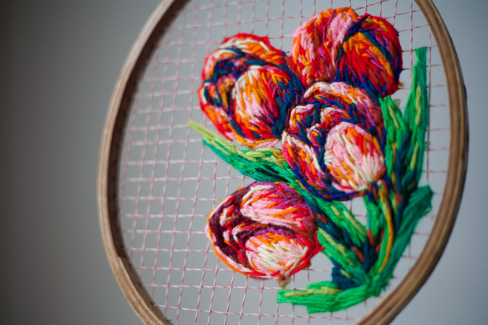 These embroidered vintage rackets are so uniquely beautiful